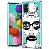 Pnakqil Funda para Samsung Galaxy A71 4G Transparente Silicona con Dibujos Carcasa Ultra Fina y...