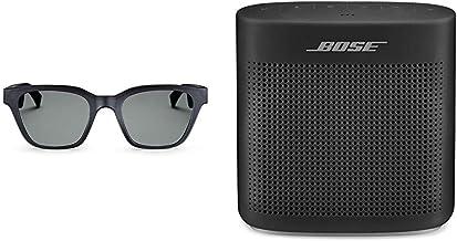 Bose Frames - Gafas de sol de audio, color negro, con conectividad Bluetooth con espejo plateado alto (polarizado), lentes de repuesto intercambiables