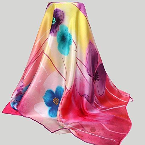 HL-TD-Schals Silk Mulberry Schal Chinese Wind Big-Platz Bequem (Color : #1)