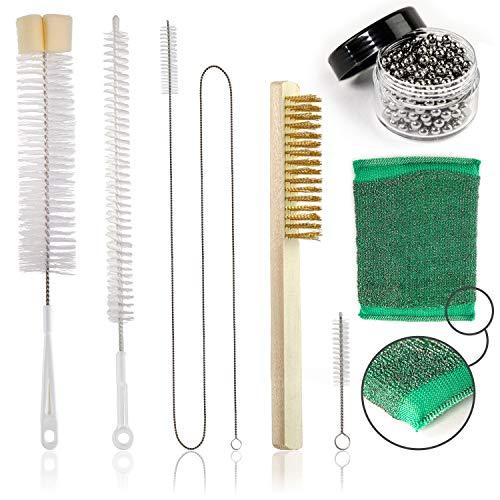 Zanabaq Shisha Reinigungsset – 7-teiliges Cleaning Set – Bürsten komplett Paket – Hygienische & schnelle Reinigung inkl. Reinigungsperlen