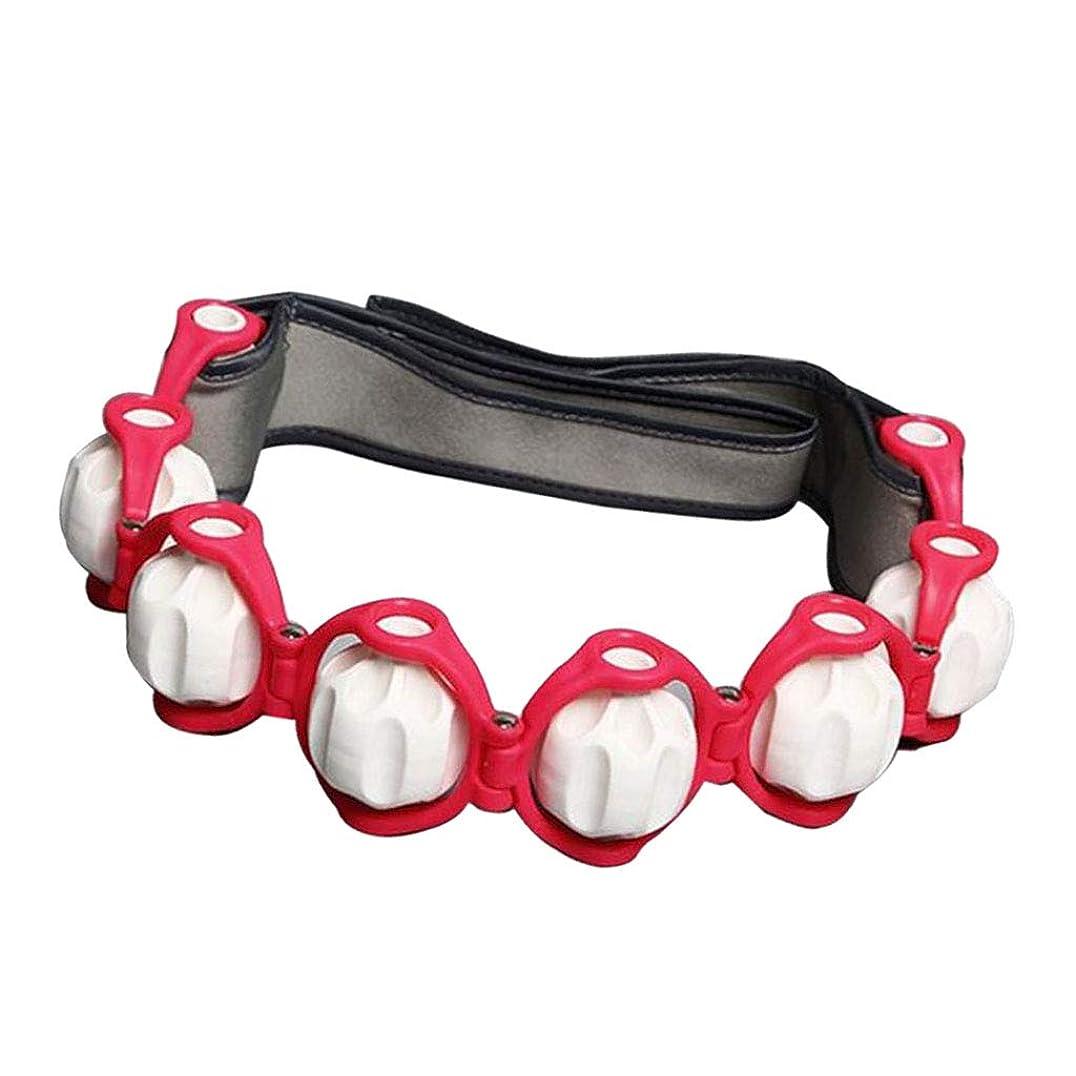 ベアリングサークルプロフェッショナル融合Baoblaze マッサージローラー ロープ付き ネック ショルダー ツボ押し マッサージボール 4色選べ - 赤, 説明したように