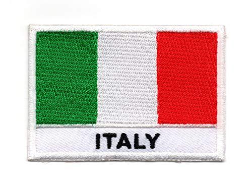 Vlag van Italië (Italiaans: Bandiera d'Italia) IJzer op patch Naai op Geborduurde Badge toegepast