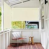 LeMeiZhiJia - Estor para exterior, toldo vertical, para balcón, estor de privacidad, metal, gris, 180*140cm