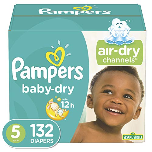 Diapers Size 5 132 Count  Pampers Baby Dry Disposable Baby Diapers Enormous Pack