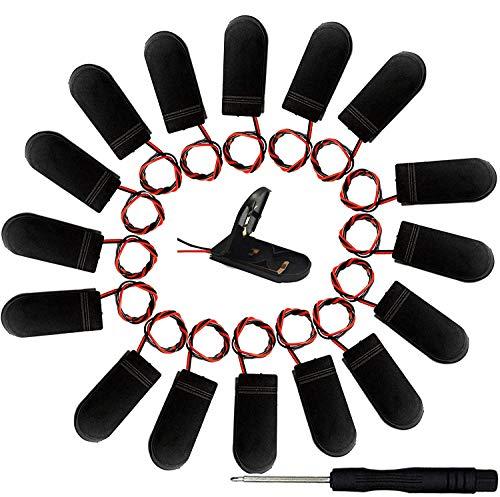12 pzs CR2032 Soporte de bateria - Soporte para Pilas de botón con Interruptor de Encendido/Apagado, 2 Pilas de botón de 3 V, Caja con Pilas de boton para LED+ 1pzs Destornillador