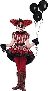 California Costumes Girls Wicked Klown Child Costume, black/red/cream, medium