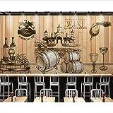 Dekorative Tapeten-Weinlese-Handgemalte Weinkeller-Hölzerner Hintergrundfoto-Wandgemälde Tapete 3D Hängen