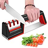Kitchen Knife Sharpeners, iToncs Knife Sharpener 3-Stage Manual Knife Sharpening Tool with Diamond