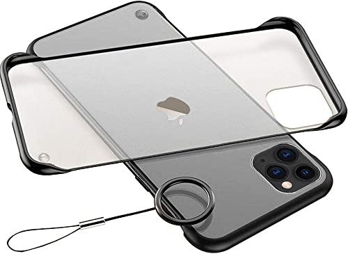 Axxitude Back Case Cover Ultra Thin Frameless Matte Hard Shockproof TPU Bumper Casing for Apple iPhone 11 Pro Black Bumper