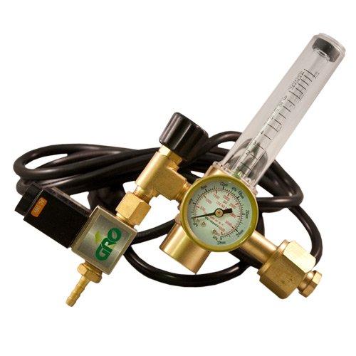 GROW1 CO2 Grow Room Environment Regulator Flow Meter Solenoid