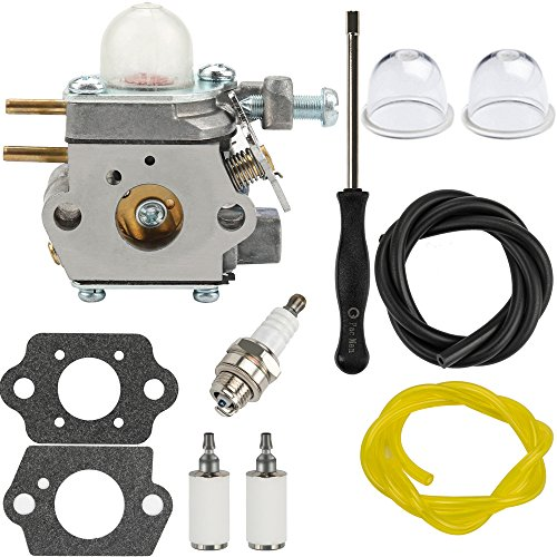 Dalom TB22EC Carburetor w Fuel Filter Primer Bulb for Troy-Bilt TB22 TB21EC TB32EC TB42EC TB80EC TB2040XP Trimmer Weed Eater Murray M2500 M2510 Brushcutter # 753-06190