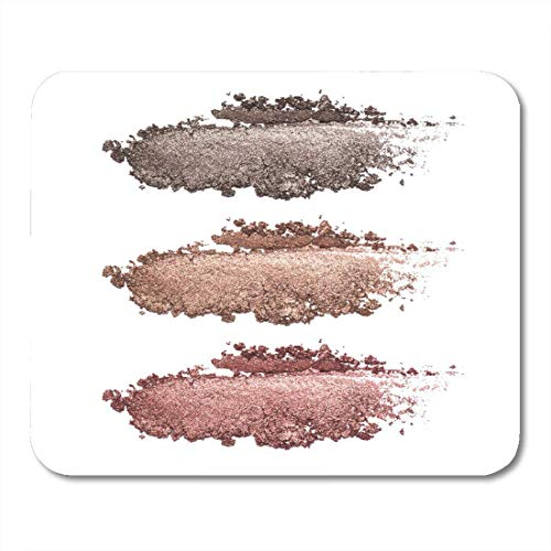 Mauspads hellbeige schönheit von lidschatten weiß crushed brown metallic closeup makeup produkt...