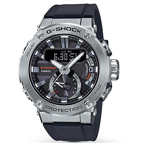 G-Shock By Casio Men's G-Steel GSTB200-1A Analog-Digital Watch Silver