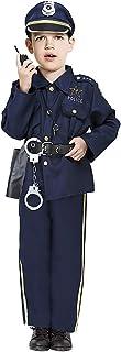 Acekid Police Coustume Fancy Halloween Role Play Kit for Kids