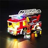 Juego de luces para Lego 60107, kit de iluminación LED compatible con (Camión de escalera de bomberos de la ciudad) modelo de bloques de construcción (NO incluido el modelo)