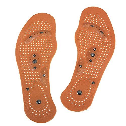 Anself 1Paar Magnettherapie Fuß Massage Einlegesohlen für Männer / Frauen Magnetische Schuhkissen Fußmassagegerät