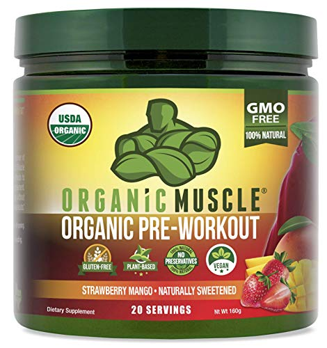 ORGANIC MUSCLE #1 Rated Organic Pre Workout Powder