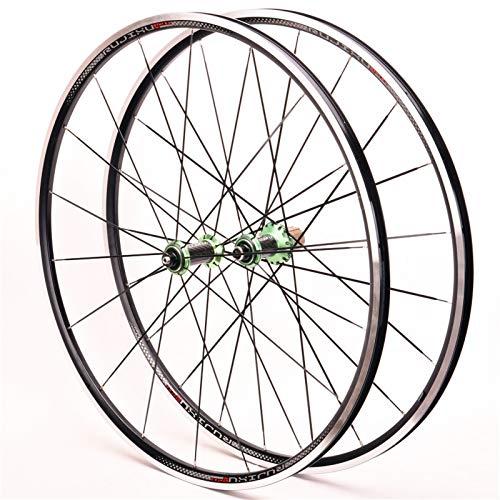 Ruedas Ciclismo,Llanta de Aleación de Aluminio 700C Peilin Antes de 2 Después de 4 Admite Velocidad 8-9-10-11 Apto para Bicicletas MTB Juego Ruedas Bicicleta