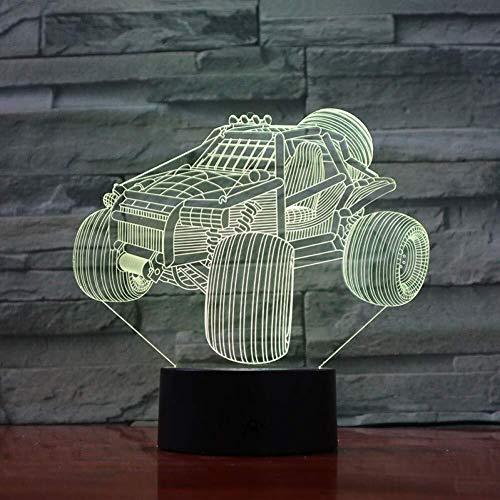 Illusion 3D Dune Buggy lampe LED Night Light Gradient Veilleuse Lumières décoratives Enfants Enfants cadeau de nuit capteur tactile 7 couleurs lumière de nuit