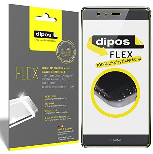dipos I 3X Protector de Pantalla Compatible con Huawei P9 - Cobertura 100% Compatible con Pantalla - láminas Protectoras