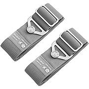 Koffer Gurte, Galopar Koffer Gürtel Verstellbare Elastische Koffer Riemen Reisezubehör Urlaub Essentials-2 Pack Grey