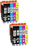 10 Cartuchos de Tinta Compatible con HP-364 XL / N9J74AE (2X Negro, 2X Negro-Photográfico, 2X Cian, 2X Magenta, 2X Amarillo)