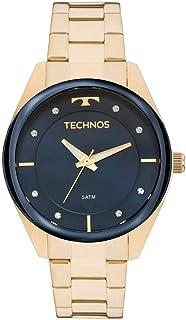 571e7faa474b2 Relógio Feminino Technos Analógico Com Cristais Swarovski 2035Mkx 1A Dourado