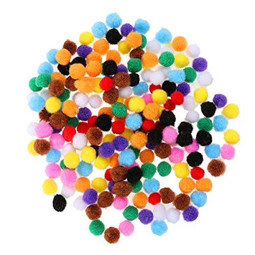 WINOMO 200 Pcs DIY Pom Pom Bola 10 Color Pom Pom Banner Hecho a Mano Pom Pom Guirnaldas Pom Pom Mover Googly Puffy Pom Pom Conjuntos para Las Artes Suministros de Arte Conjunto de 10Mm