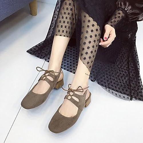Zormey Les Talons Des Femmes lumière Up chaussures En Cuir Nappa Pu Bcourir Noir Décontracté