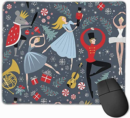 Clara's Notenkraker Ballet Herhaal Door Robin Pickens Gaming Mouse Pad Antislip Rubber Mousepad voor Computers Desktops laptop Mouse Mat 9.8