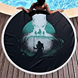 Action Figures Game Thrones Round Beach Towel Oversized Ultra Water Absorbent Soft Microfiber Throw Blanket Beach Towel Yoga Mat Home Decoration Picnic Mat Bed Cover Tapestry Beach Blanket