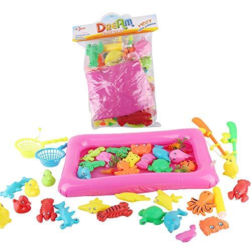 Kinder Angeln Spielzeug Pool-Set, Lernen Und Bildung Magnetfischen Kinder Pädagogisches Interaktives Spielzeug