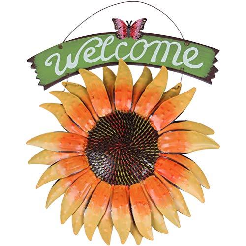 Urisgo - Placa de bienvenida con temática de girasol y ador