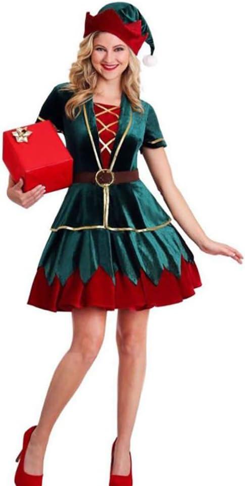 Mocha Parejas Halloween Disfraces De Navidad 2020 para Hombres Mujeres Santa Claus Elves Green Elf Juego De Roles Adultos Cosplay Niños Niñas Adolescentes