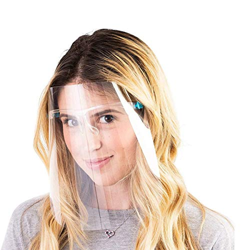 OUNN Gesichtsschutz-Set mit 2 austauschbaren Anti-Beschlag-Schildern und 2 wiederverwendbaren Gläsern für Damen und Herren, zum Schutz von Augen und Gesicht (2 Stück)