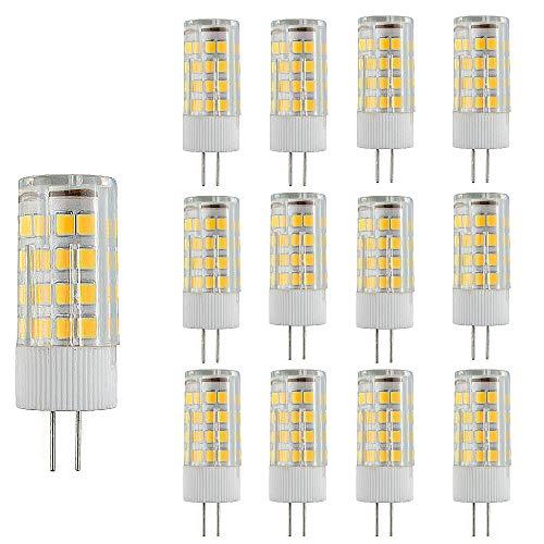 12 Paquetes Bombillas LED G4 Lampe de Maíz que Ahorra Energía 3000k Lámpara LED No Regulable,3W(Equivalente a 30W Halógena)Bombilla de Iluminación LED Blanca Cálida con Ángulo de haz de 360 °