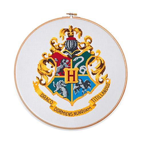 Hogwarts Crest Counted Cross Stitch…