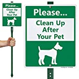SmartSign 'Please - Clean Up After Your Pet' LawnBoss Sign | 10' x 12' Aluminum Sign With 3' Stake