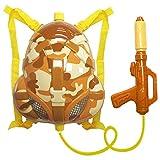 Nai-B Milistar Water Gun Backpack for Kids and Toddlers. Super Soaker Squirt Gun, Water Blaster and...