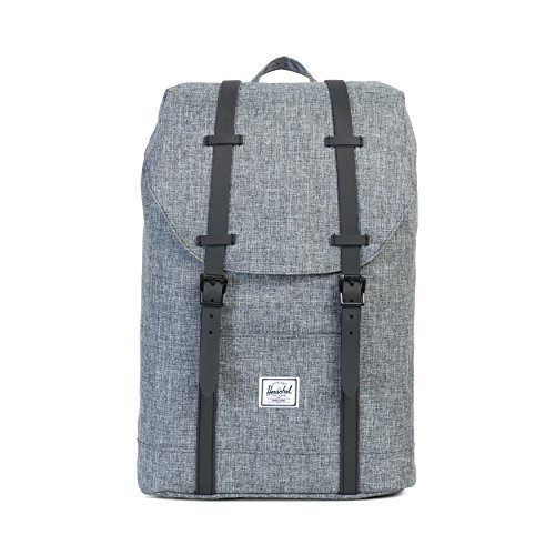 Herschel Retreat Backpack, Raven Crosshatch/Black Rubber, Classic