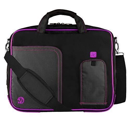 Women Laptop Sleeve Carrying Case Bag Messenger Bag Satchel Shoulder Crossbody Office Bag Travel Briefcase for Apple MacBook Pro 13, Acer Chromebook R13, ASUS VivoBook Flip 14, Dell Inspiron 14