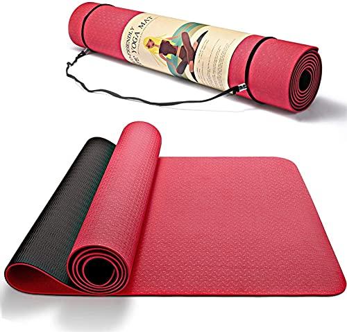 PSFYYY TPE bicolor antideslizante deportes fitness Mat