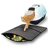 SONNIG Plegable Cat Litter Mat, Doble Capa de Panal Alfombra para Gatos Estera para Bandeja de Arena para Gatos con Material EVA Impermeable, Antideslizante Lavable Estera Arena Gatos