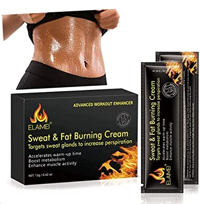 Hot Cream Cellulite Treatment, Fat Burning Sweat Cream for Belly, Workout Enhancer Gel, Natural Firming & Slim Cream for Shaping Abdomen, Waist and Buttocks (10 Pcs/Box) by Bubble Store