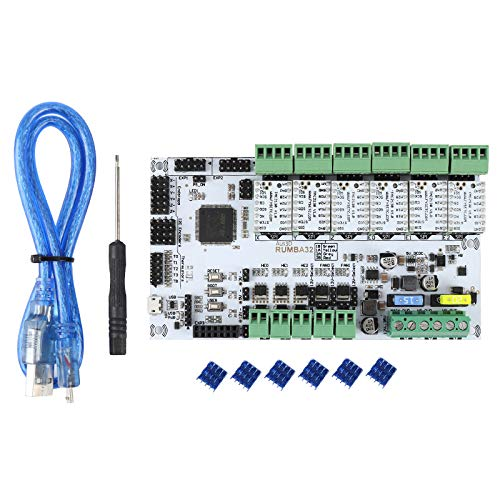 Cimoto 3D Printer Accessories RUMBA32-Bit Motherboard + TMC2130x6 Silent Driver Kit Marlin 2.0