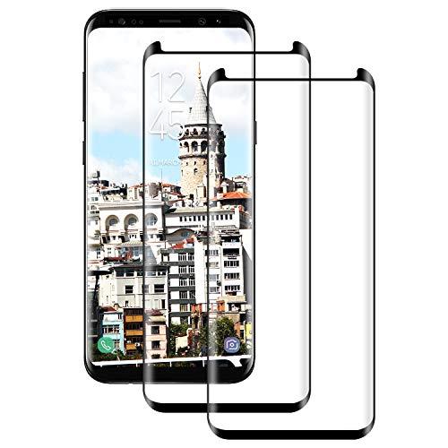 DOSNTO Protector de Pantalla para Samsung Galaxy S9 Plus Cristal Templado, 2 Pcs Cobertura Completa [9H Dureza][3D Curvado][Resistente a Arañazos] Vidrio Templado Screen Protector para Galaxy S9 Plus