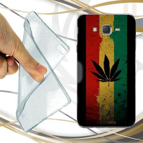 Custodia Cover Case Marijuana Flag per Samsung Galaxy J3 2016