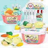 Eliasan 22-TLG. Tragbares Spielset fr Kinder Kche Spielset Spielzeug Kche Set so tun als ob Kochset Geschenk fr Kinder ab 3 Jahren
