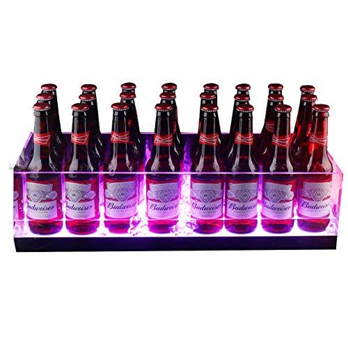 Cubo de hielo de plástico acrílico transparente para bebidas y fiestas, apto para alimentos, con capacidad para 24 botellas de tamaño completo y hielo, ideal para bar en casa, cerveza fría, champán