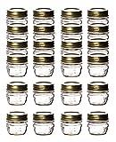 Bormioli Quattro Stagioni - 24 vasetti con coperchio a vite - 40 ml - adatti per TK - Mini vasetti per conserve